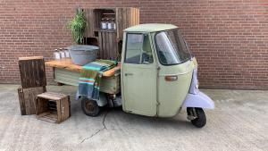 ijsbar.nl - groene piaggio huren - foodtruck